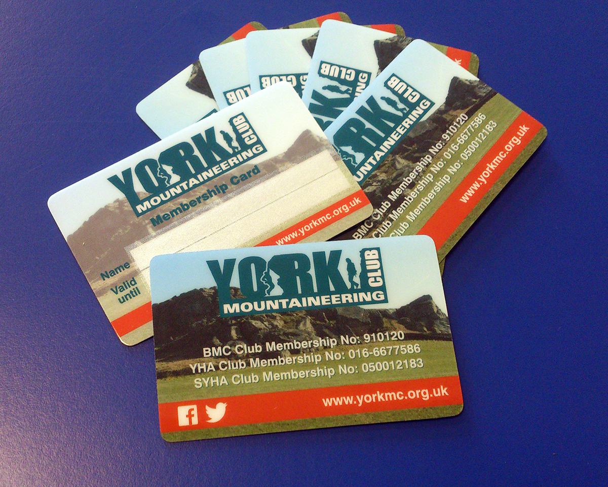 Membership cards for York Mountaineering Club