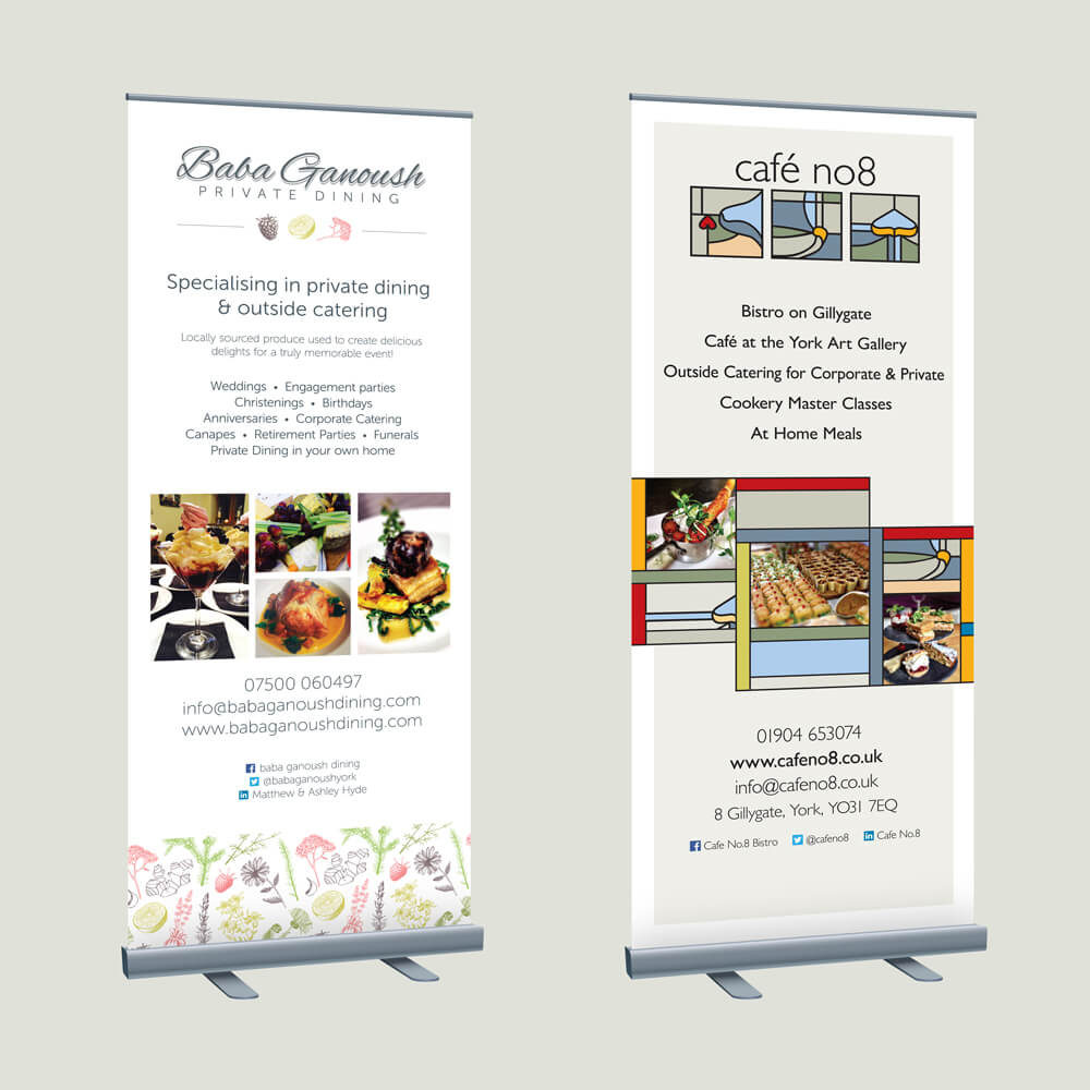 Banner stands design and printing - Sane Design